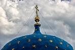 Синие купола со звездами венчают храмы посвященные Богородице