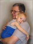 Счастье (автопортрет с внуком)