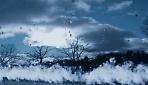 белый снег, синий лед