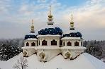 """Купола Николо Сольбинского женского монастыря"""""""