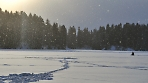 Снегопад и солнце