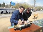 Открылся Чемпионат России по судомодельному спорту в классах моделей-копий в Сергиевом Посаде на Келарском пруду.