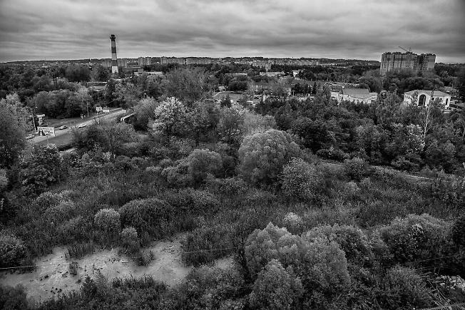 сентябрь 2013, Дмитров, вид из отеля Кристалл