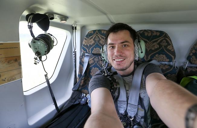 июнь 2015, первый раз на вертолете