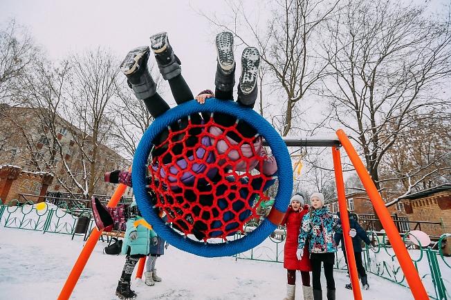 декабрь 2018, на детской площадке