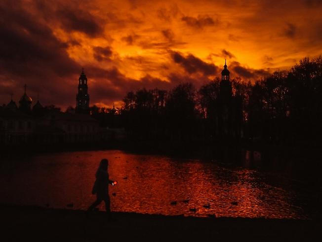 октябрь 2019, закат на Белом пруду