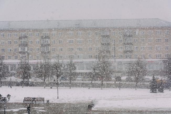 март 2021, пятиминутный снегопад