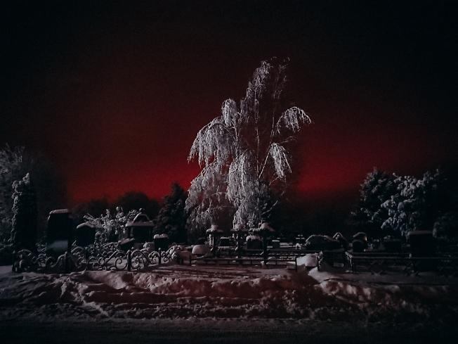 январь 2021, первая морозная ночь