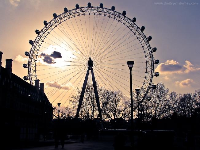 London Eye на закате