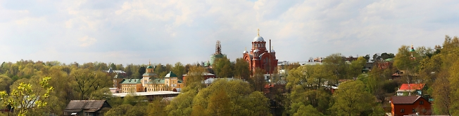 Вид на Покровский Хотьков монастырь