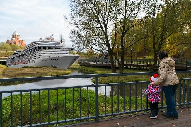Первый круизный лайнер прибыл в порт Хотьково