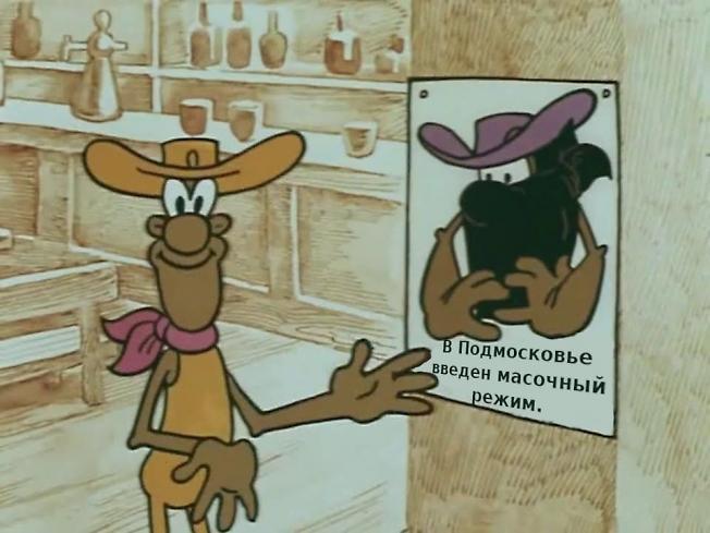 В Подмосковье введен масочный режим.