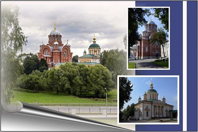 Покровский Хотьков женский монастырь. Коллаж.