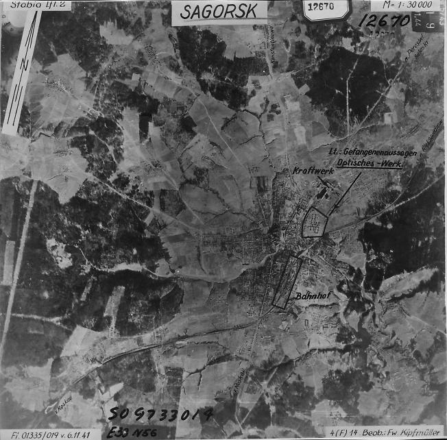 Загорск 1941. Аэрофотосъемка Люфтваффе