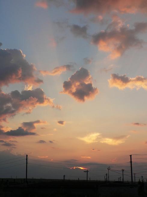 небо, природа, закат