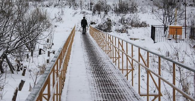 человек на мосту