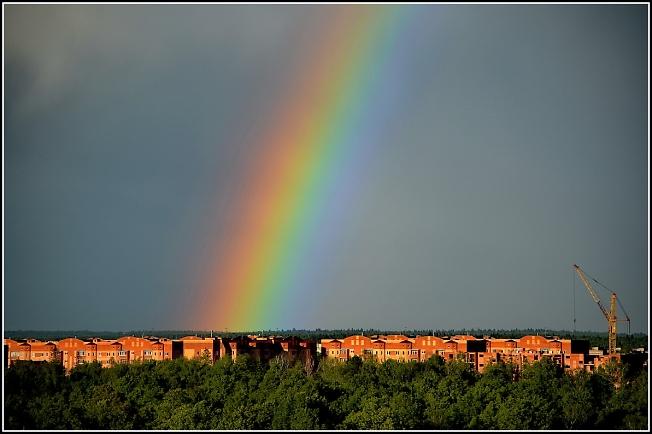 Та же радуга, но поближе :)
