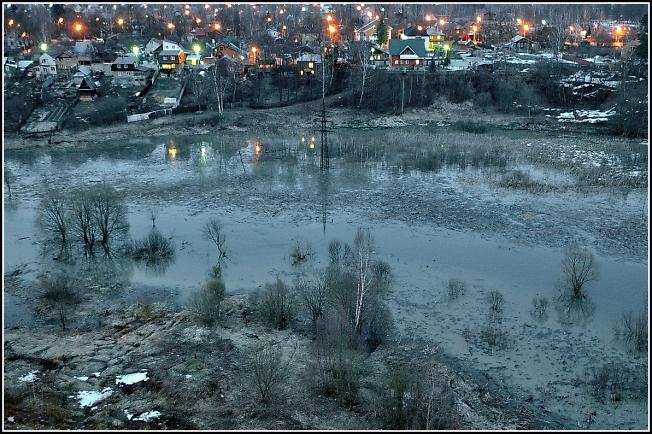 Наводнение на великой посадской реке Кончуре :)