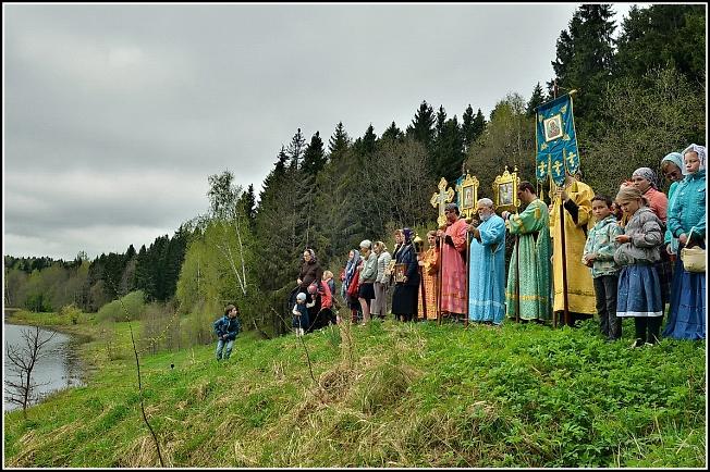 Водосвятный молебен на источнике у Загорского моря в день памяти св. вмк. Георгия Победоносца