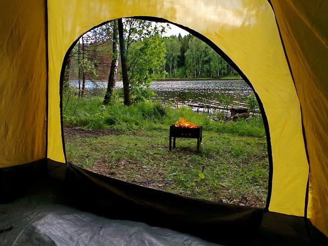 Проветрил сегодня палатку...