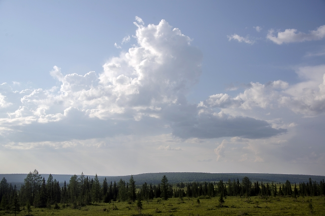Облака в предгорьях 2