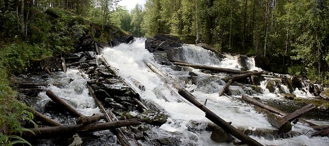 Водопад на Куксе
