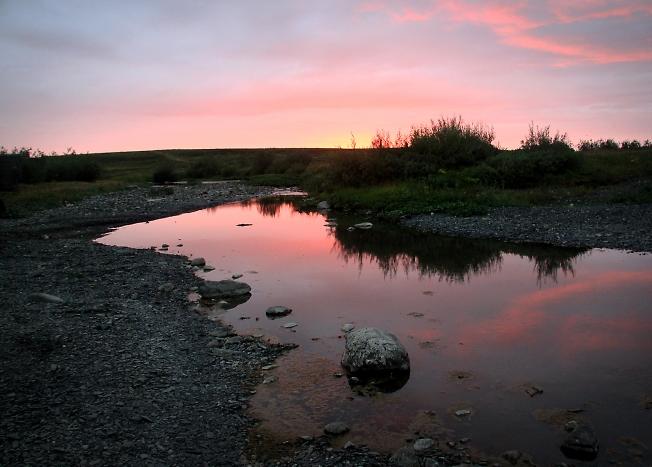 Река Кара. Утро