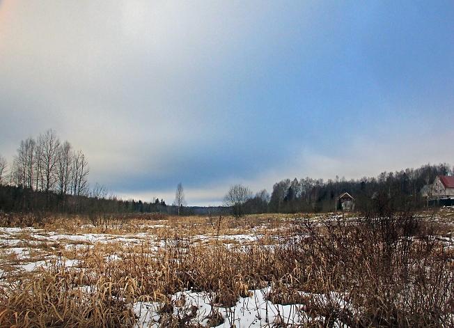 Синие январские облака
