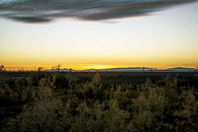 Закат над тундрой