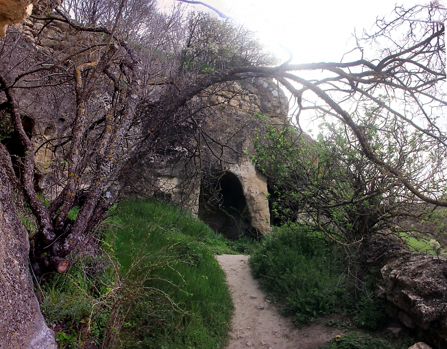 Улица пещерного города