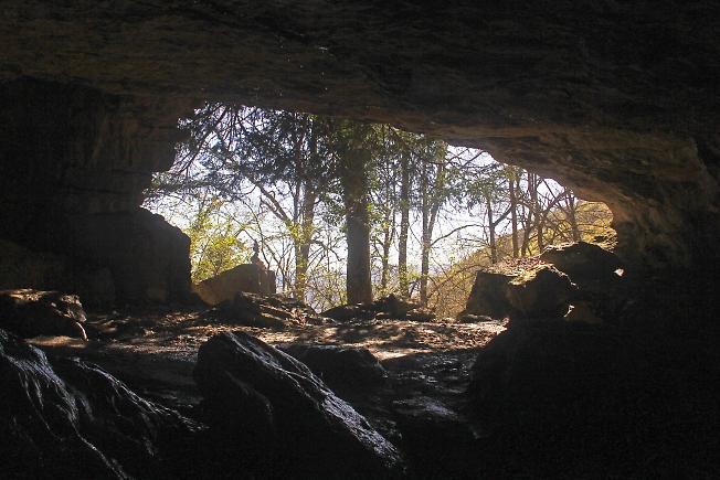 Вид из пещеры Даниил-коба