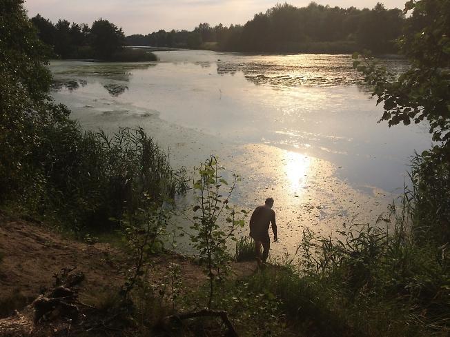 Вечер на реке Муховец возле Замошанов