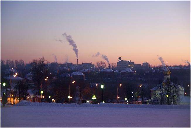 Зимний вид с горы Маковец