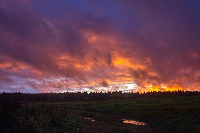 Огонь осеннего заката