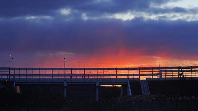 Закат над объездом