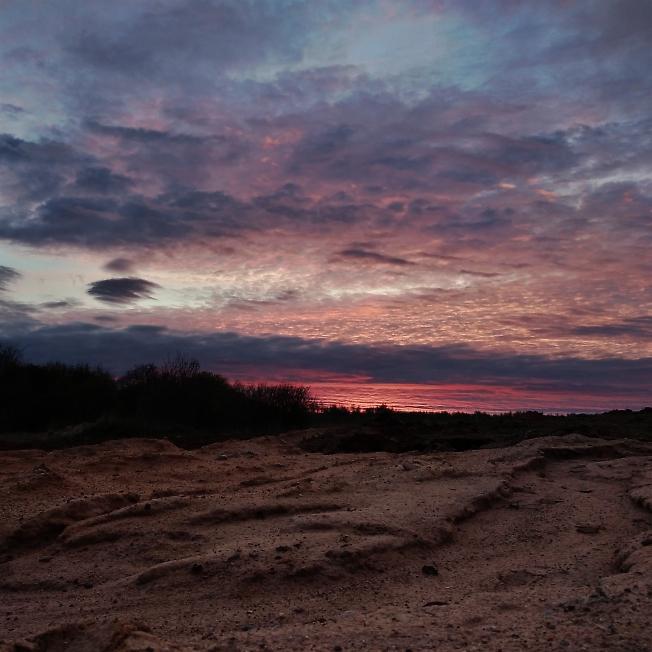 Закат в День Победы. Западный поселок