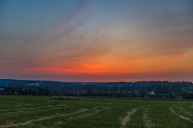 Июньский вечер в полях