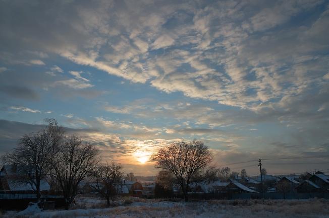 Зимний закат на Западном поселке