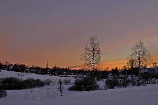 Морозное утро в Посаде