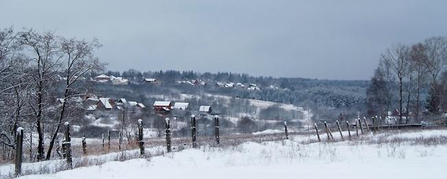 Вид с автодрома к Загорскому озеру