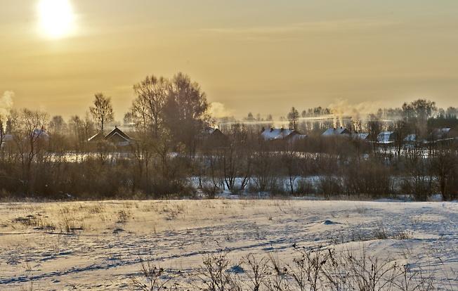 Россия.Утро в деревне