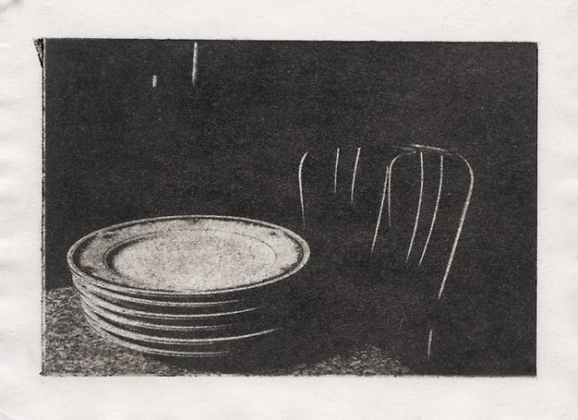 натюрморт с тарелками