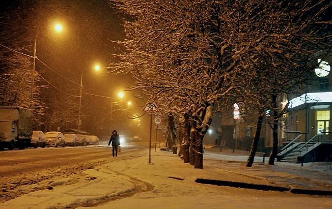 Еще шутит зима на Воробъевке