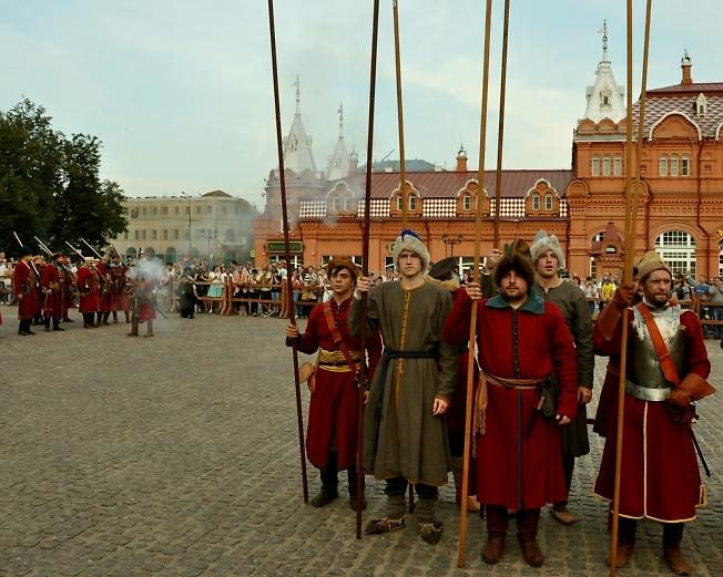 Стрельцы на Красногорской площади