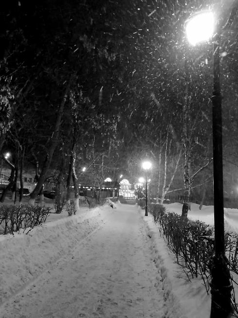 Все уже дома. Снег идёт...