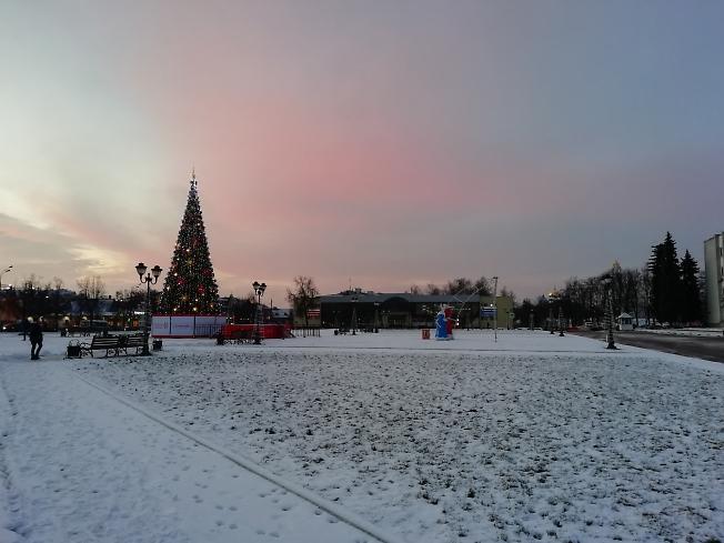 Рассвет на Советской площади