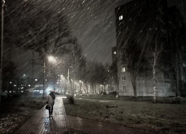Октябрьский снегопад