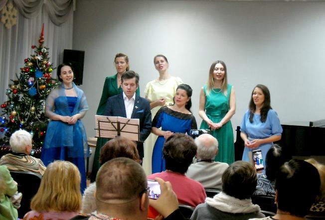 Рождественский концерт Вокальной студии «Резонанс» Дворца культуры имени Гагарина.