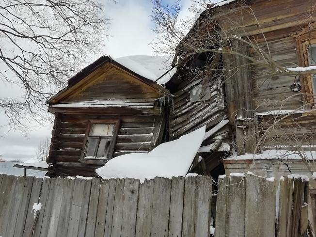 Часть старого дома на Воробьевке