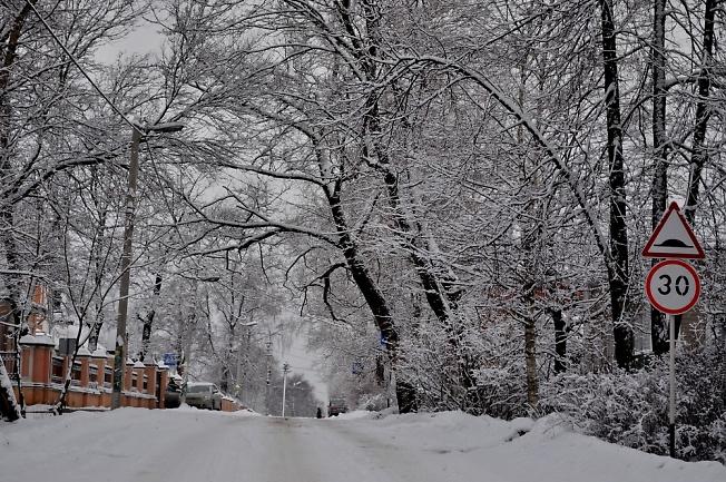 С Новым снегом! ул. Болотная